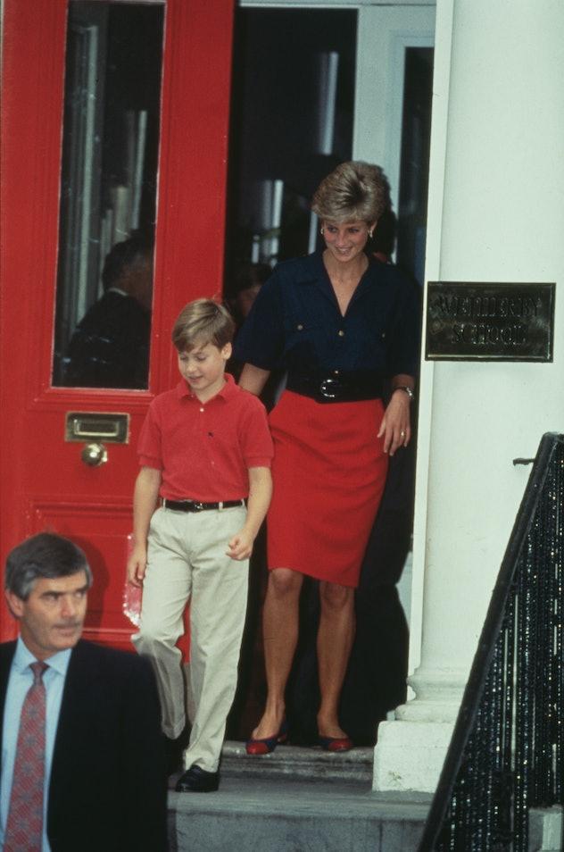 Princess Diana's cool colorblock look.