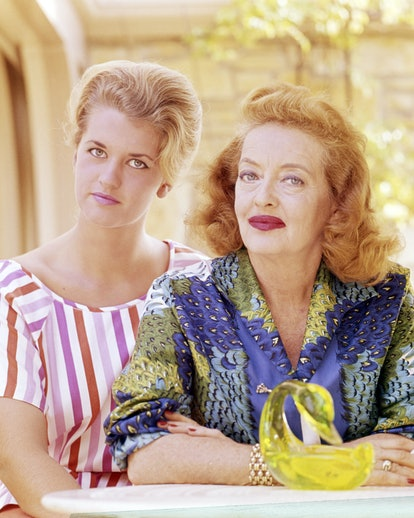 Bette Davis with her daughter Barbara Davis Sherry (later known as B.D. Hyman), circa 1965.