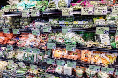 Florida, Miami Beach, Trader Joe's, grocery store, precut brussels sprouts, zucchini, green beans, c...