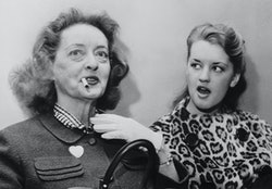 Bette Davis with daughter Barbara Merrill, later known as B.D. Hyman.