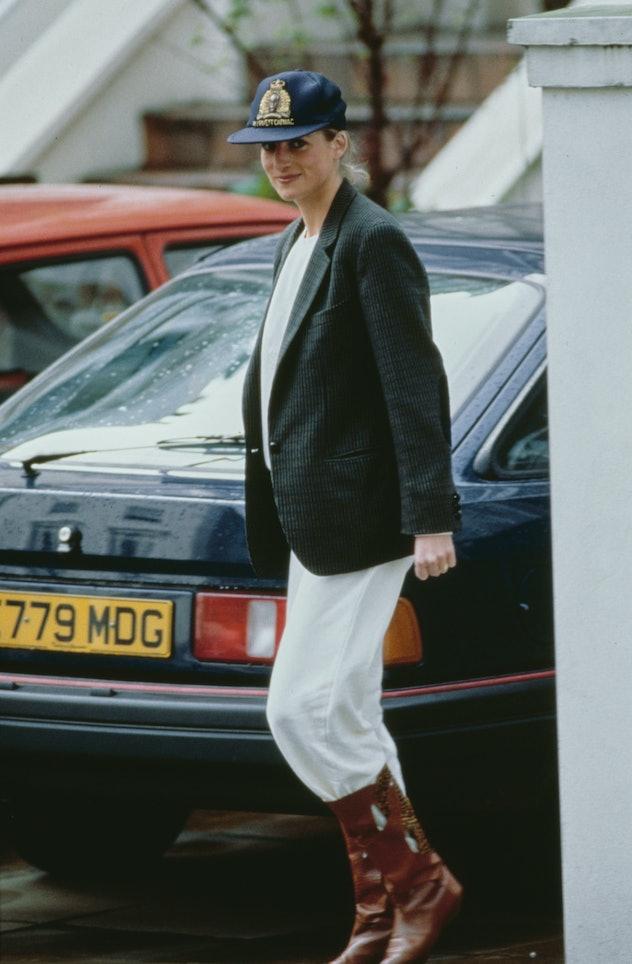 Princess Diana's school drop off chic.