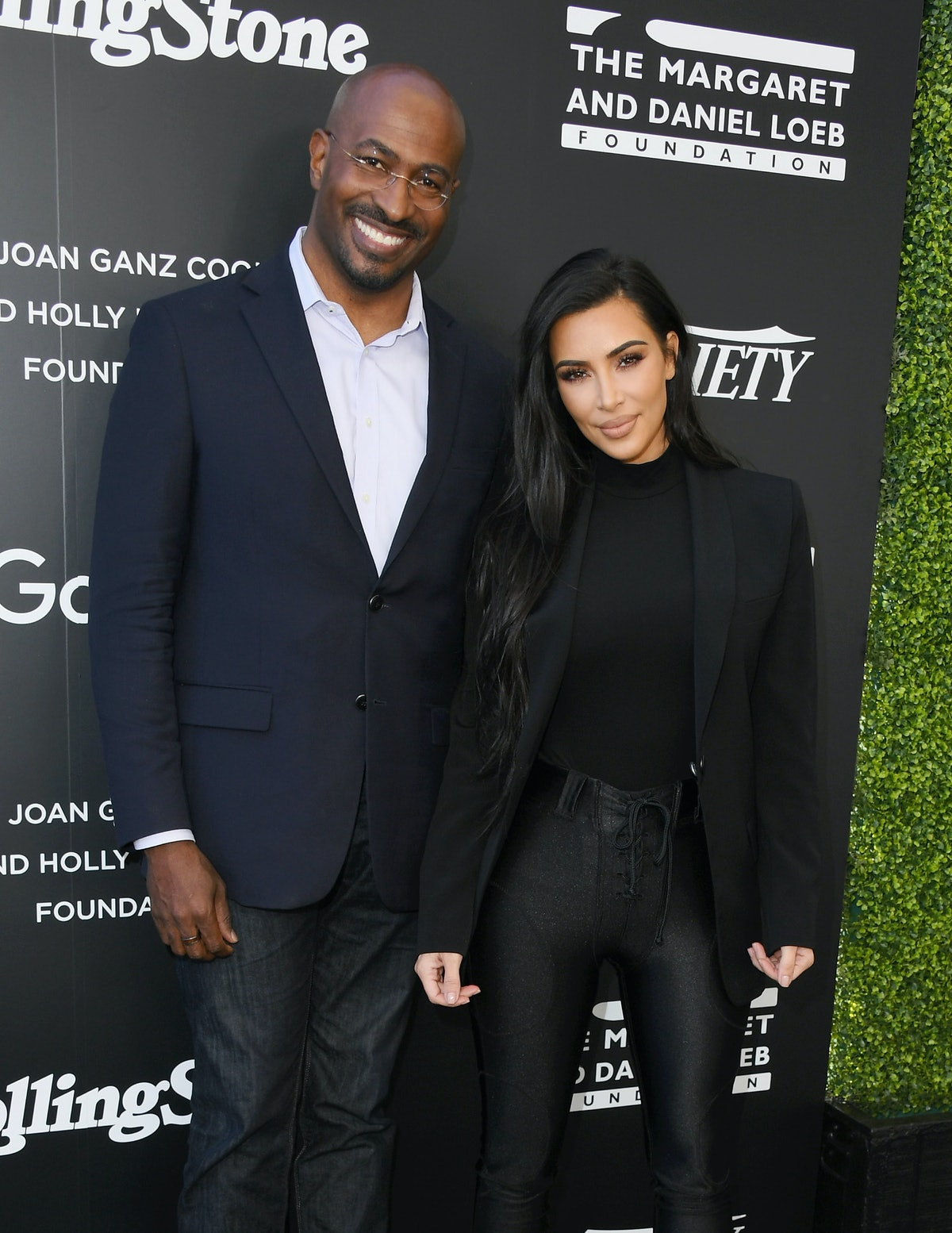 WEST HOLLYWOOD, CA - NOVEMBER 14:  Van Jones and Kim Kardashian attend Variety And Rolling Stone Co-...