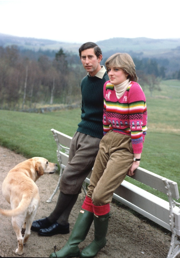 Princess Diana basically invented wearing rubber boots.
