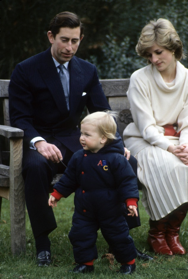 Princess Diana looked chic in boots and a skirt.