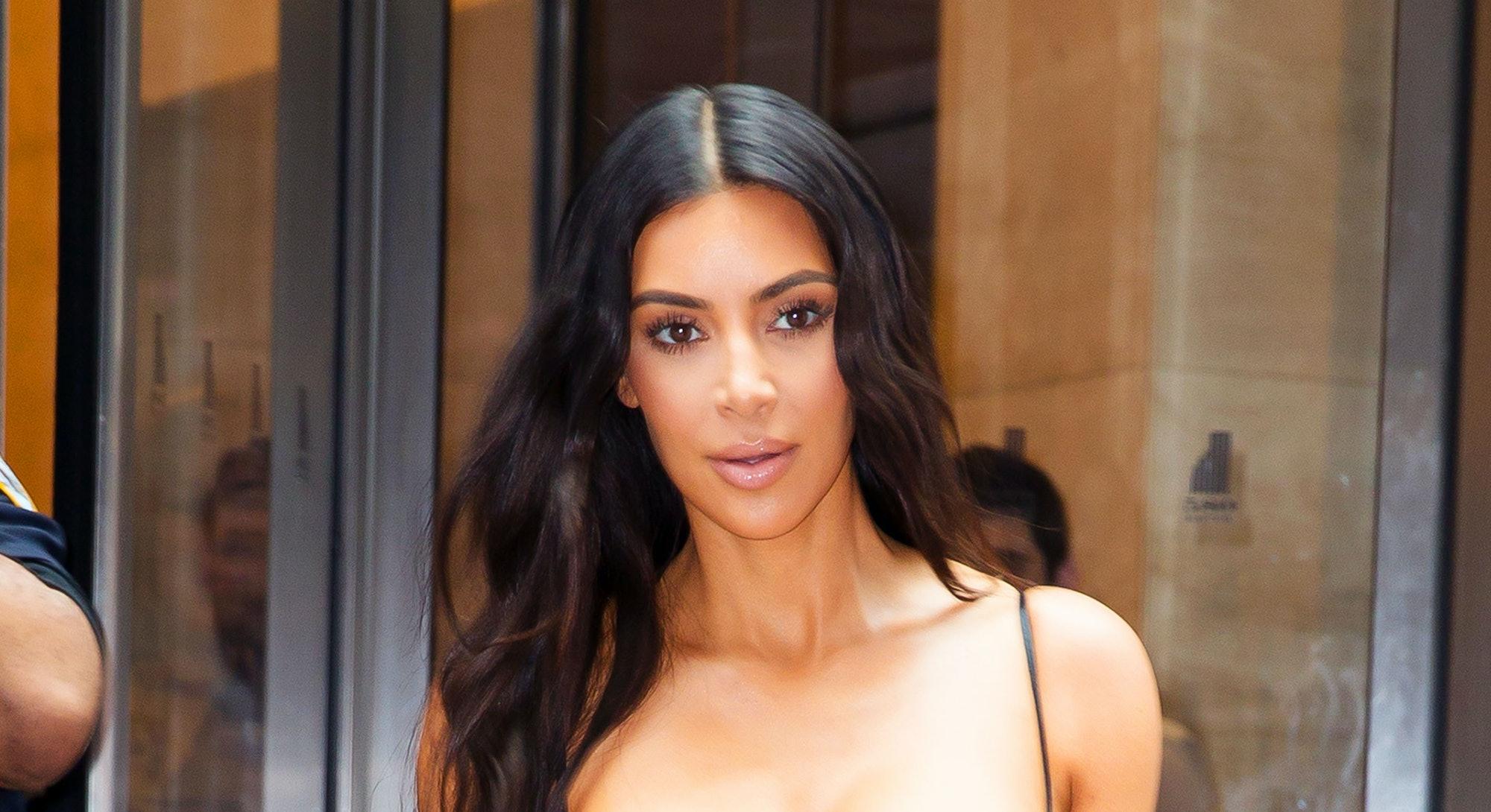 NEW YORK, NY - JUNE 14:  Kim Kardashian departs a jeweler's office on June 14, 2017 in New York City...