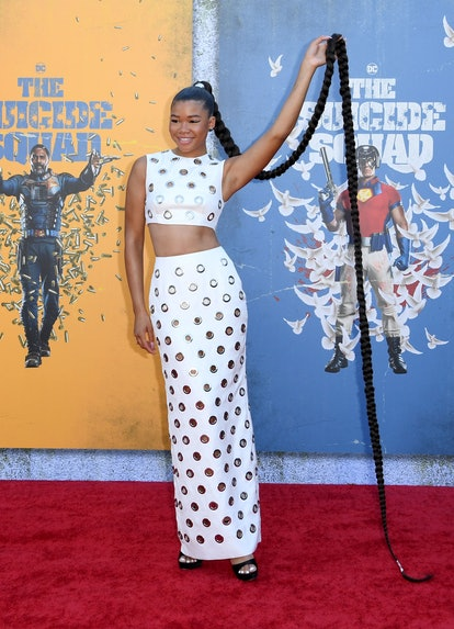 """LOS ANGELES, CALIFORNIA - AUGUST 02: Storm Reid attends the Warner Bros. premiere of """"The Suicide Sq..."""