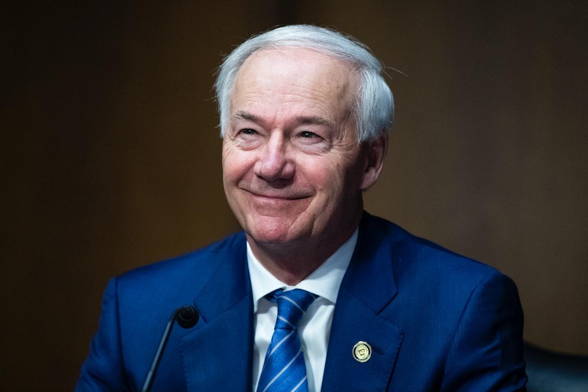 UNITED STATES - JUNE 22: Arkansas Gov. Asa Hutchinson, testifies during Senate Judiciary Committee h...
