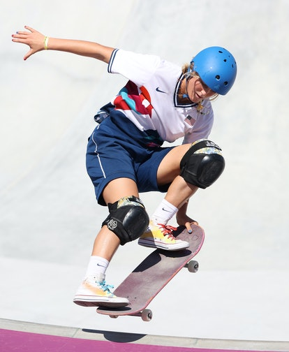 TOKYO, JAPAN - AUGUST 04: Bryce Wettstein of Team United States competes in the final of the Women's...