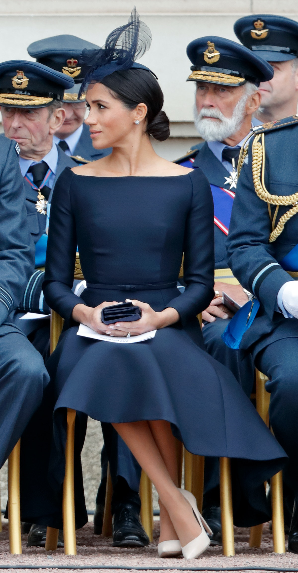 Duchess of Sussex attends a ceremony to mark the centenary of the Royal Air Force in London, England...