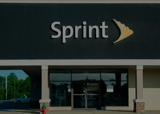 Sign on a Sprint retail telephone store. (Photo by: Jim Lane/Education Images/Universal Images Group...