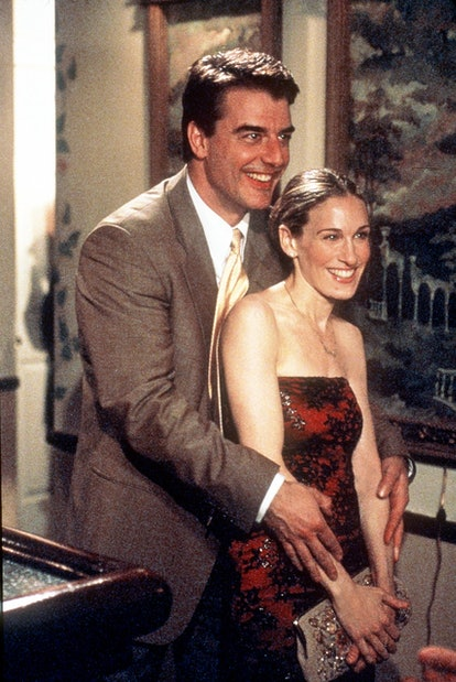 """Chris Noth and Sarah Jessica Parker star in """"Sex And The City"""" (""""The Man, The Myth, The Viagra"""" epis..."""