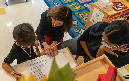 New York Lieutenant Governor Kathy Hochul at Early Childhood Center of Bronx Community College.