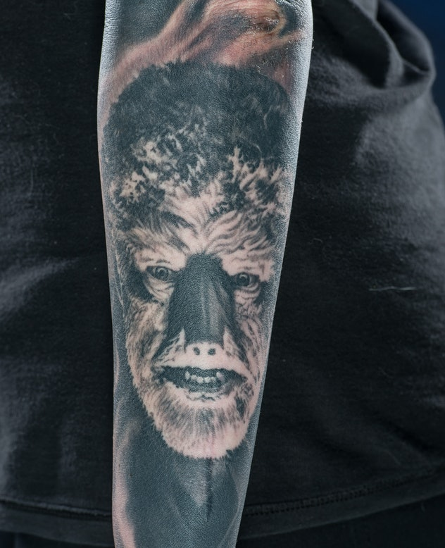 Classic movie monsters such as The Wolfman make great tattoo choices.