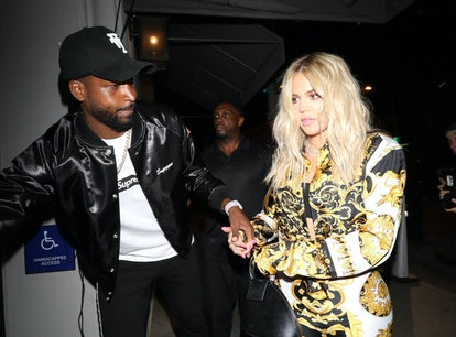 """Khloé Kardashian is reportedly """"happy being single"""" after Tristan Thompson breakup."""