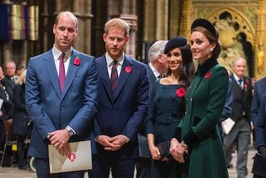 LONDON, ENGLAND - NOVEMBER 11: Prince William, Duke of Cambridge and Catherine, Duchess of Cambridge...