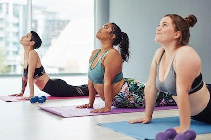 How to do upward dog in yoga.