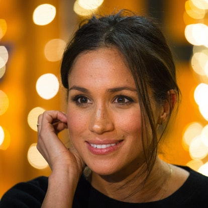 Meghan Markle during a visit to Reprezent 107.3FM in Pop Brixton on January 9, 2018 in London, Engla...