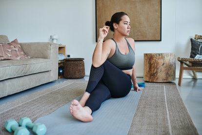 How to do the seated twist yoga position.