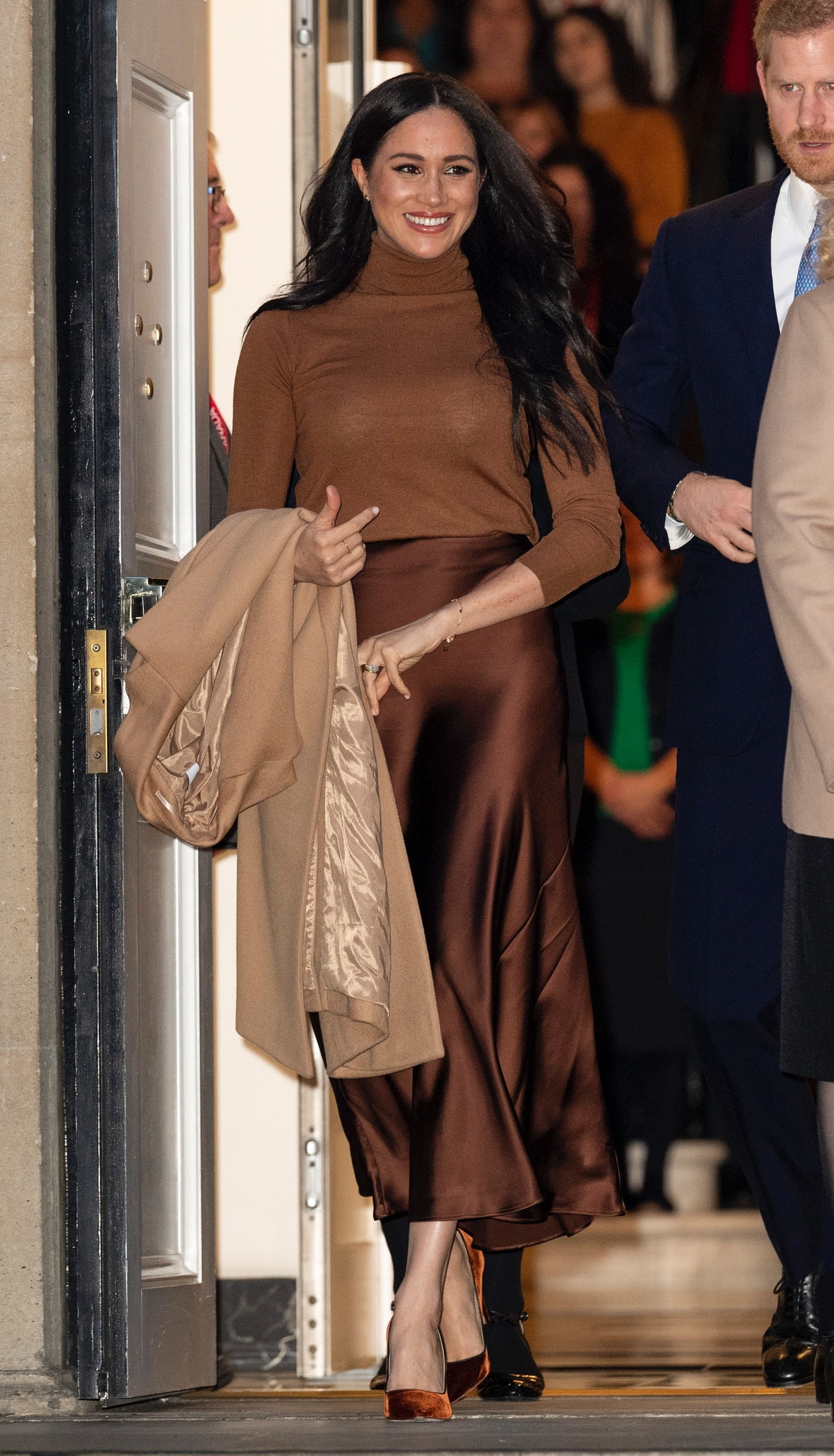 The Duchess of Sussex visits Canada House in London, England in January 2020.