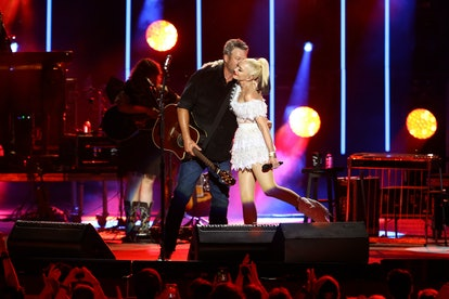 Blake Shelton and Gwen Stefani had a small wedding ceremony in Oklahoma with 40 guests.