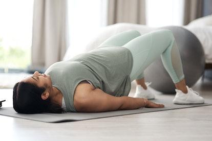 One of the best beginner yoga poses is bridge pose.