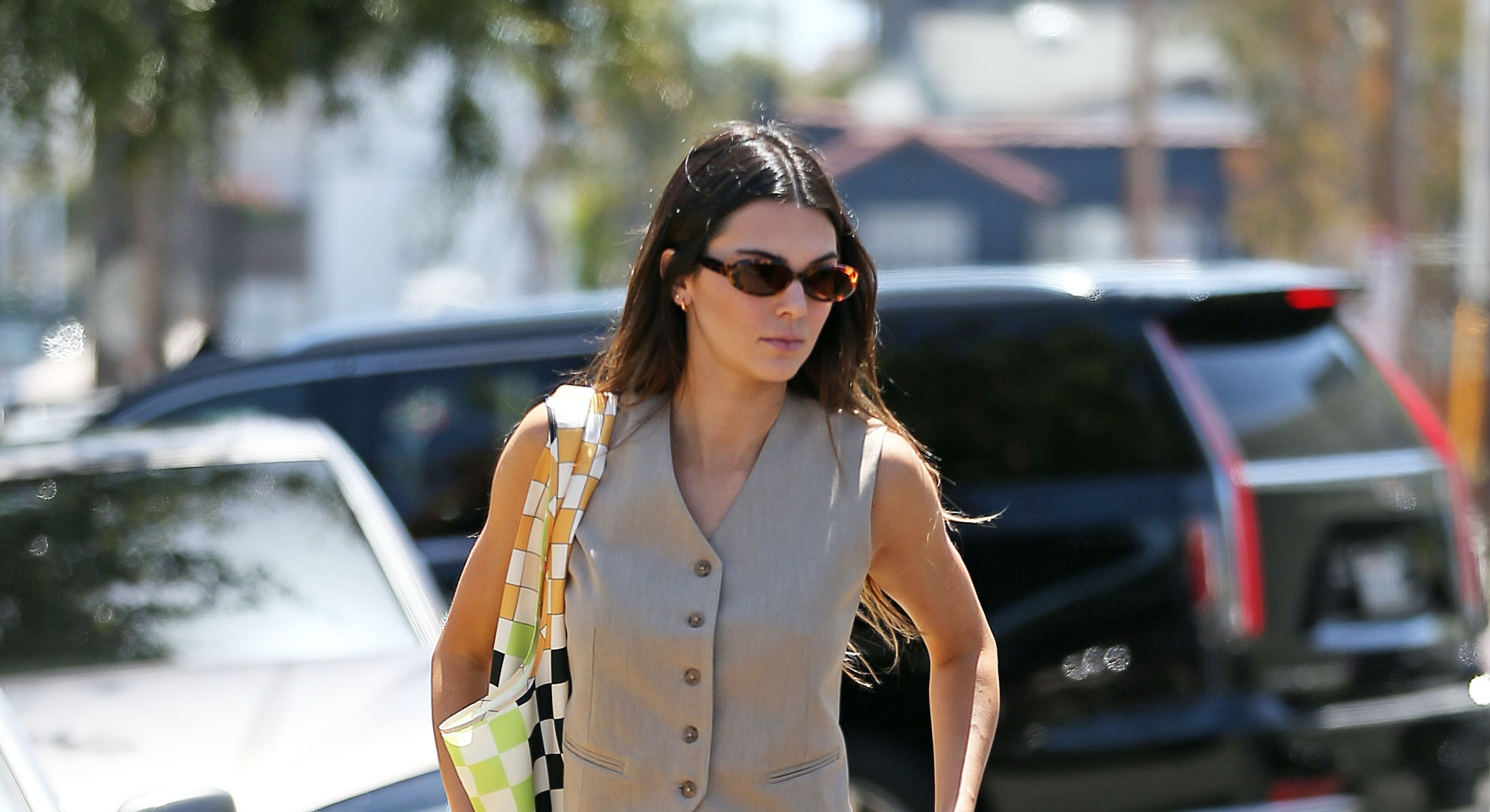 LOS ANGELES, CA - MAY 26: Kendall Jenner is seen on May 26, 2021 in Los Angeles, California. (Photo ...
