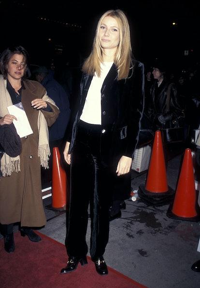 "NEW YORK CITY - DECEMBER 8:   Actress Gwyneth Paltrow attends the ""Twelve Monkeys"" New York City Pre..."
