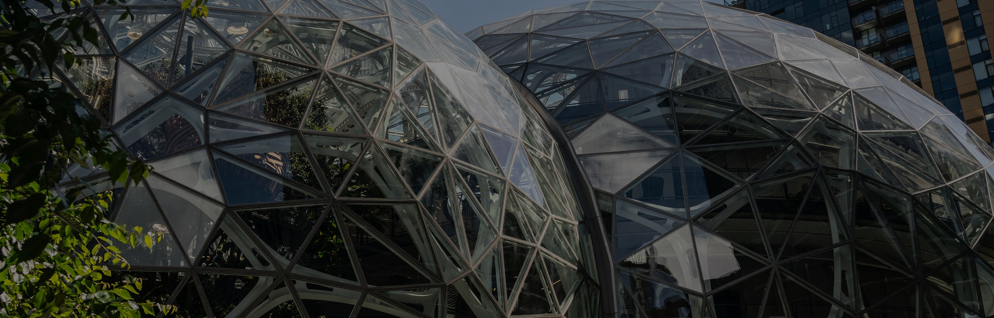 SEATTLE, WA - MAY 20: The exterior of The Spheres is seen at the Amazon.com Inc. headquarters on May...