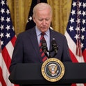 WASHINGTON, DC - AUGUST 03: U.S. President Joe Biden speaks during an event in the East Room of the ...