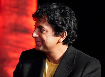 HOLLYWOOD, CALIFORNIA - OCTOBER 19: M. Night Shyamalan participates in the Cinespia 20th anniversary...