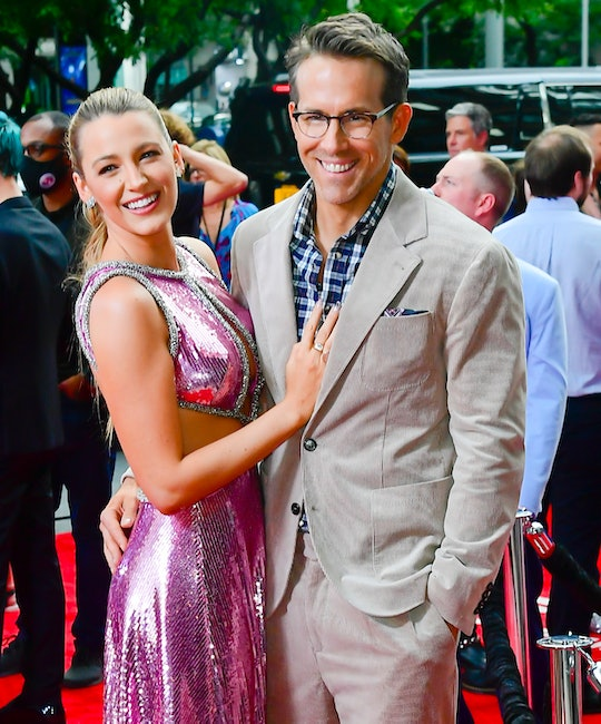 """NEW YORK, NY - AUGUST 03:  Blake Lively and Ryan Reynolds attend the """"Free Guy"""" New York Premiere at..."""