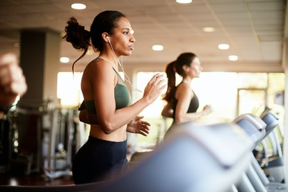 The benefits of working out on a treadmill.