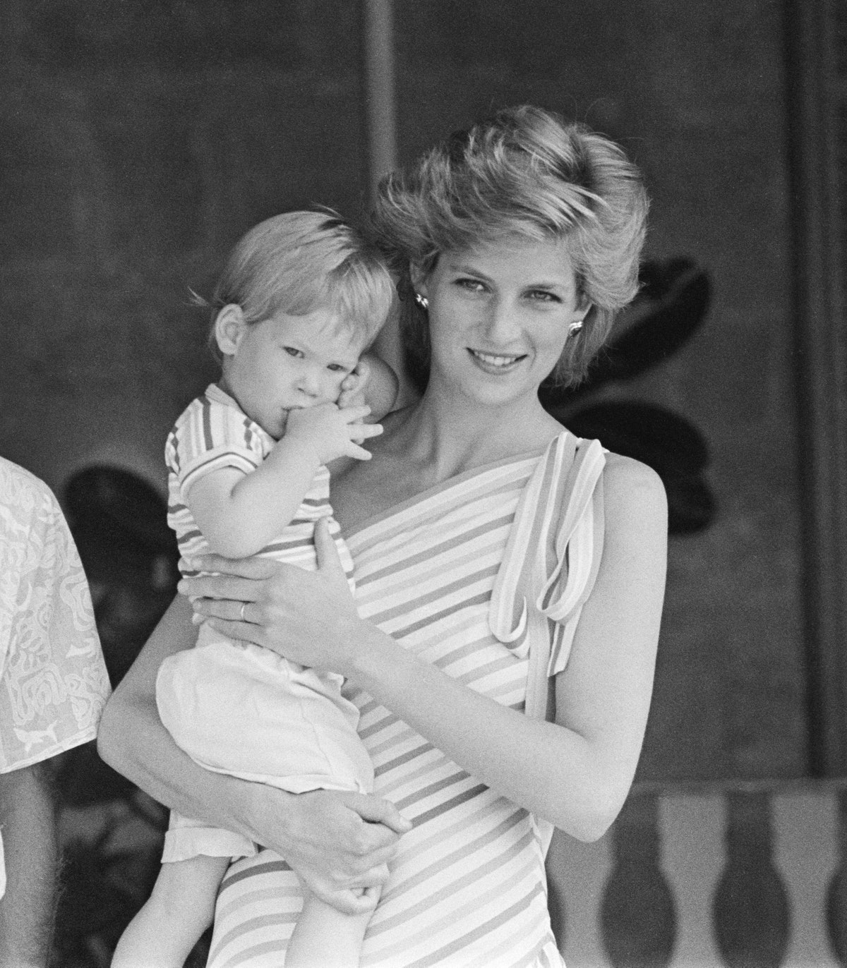 Prince Harry and his mother HRH Princess Diana, the Princess of Wales are on holiday with Prince Cha...