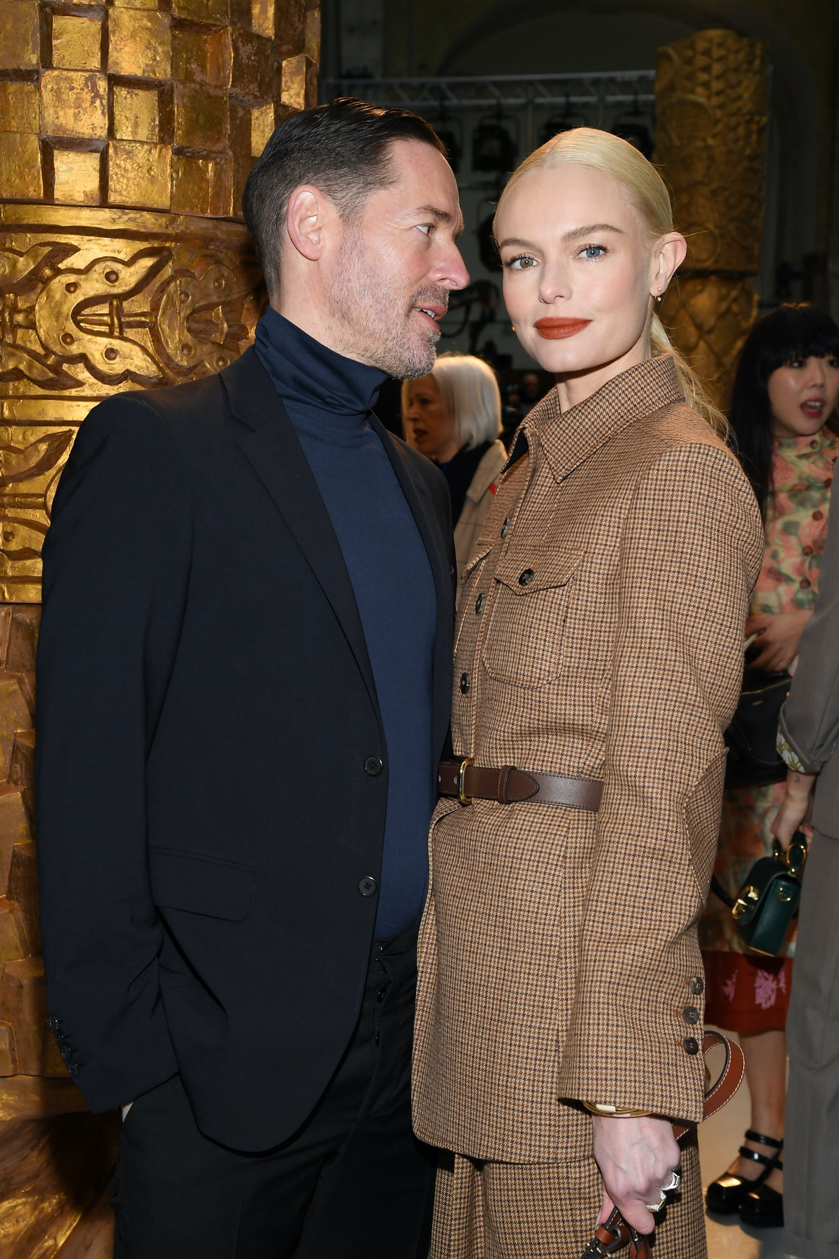 PARIS, FRANCE - FEBRUARY 27: (EDITORIAL USE ONLY) Kate Bosworth and Michael Polish attend the Chloe ...