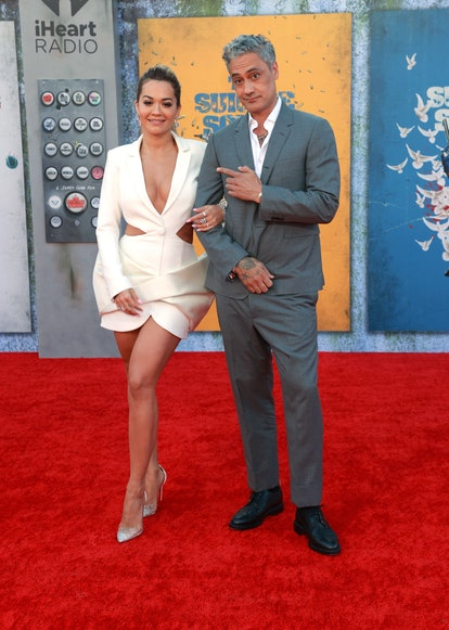 LOS ANGELES, CALIFORNIA - AUGUST 02: (L-R) Rita Ora and Taika Waititi attend the Warner Bros. premie...