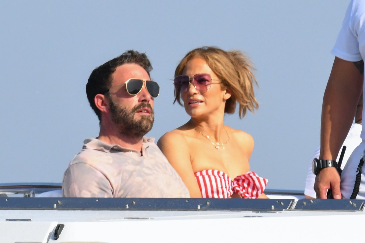 AMALFI, ITALY - JULY 28: Ben Affleck and Jennifer Lopez are seen on July 28, 2021 in Amalfi, Italy. ...