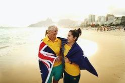 RIO DE JANEIRO, BRAZIL - AUGUST 04: Mary Hanna, Australian Equestrian Dressage competitor and the ol...