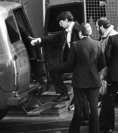 Dennis Nilsen, 37, enters van after appearing at Highgate Magistrates Court, London, where he is cha...