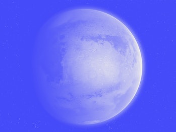 An impression of the Red Planet, Mars, second smallest in the Solar System (after Mercury).