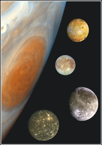 386755 01: NASA announced March 16, 2001 one last mission for the Galileo space probe which includes...
