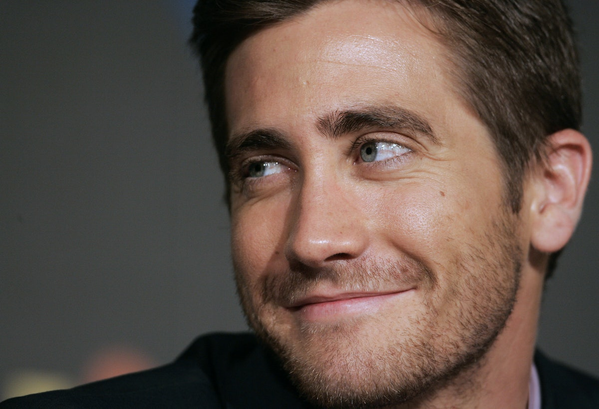US actor Jake Gyllenhaal listens journalist's questions during  a press conference on US director Da...