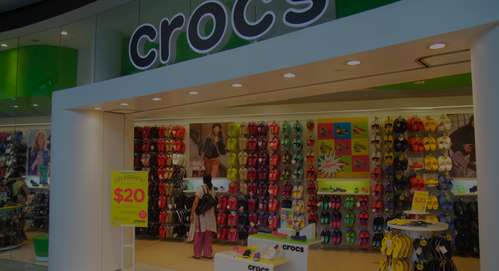 The entrance to Crocs at The Shoppes at Marina Bay Sands. (Photo by: Jeff Greenberg/Universal Images...