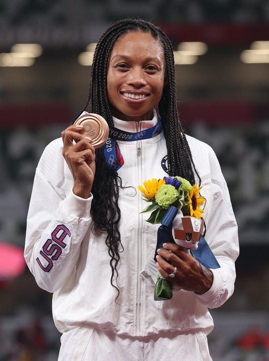 Allyson Felix won her first Olympic medal after becoming a mom.