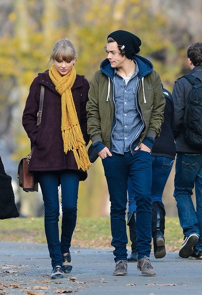 NEW YORK, NY - DECEMBER 02: Taylor Swift and Harry Styles are seen walking around Central Park on De...