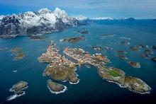 Henningsvaer at Lofoten Islands, Norway