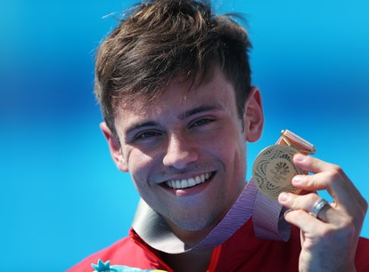 Tom Daley knit an Olympics cardigan during the games, and it's iconic.
