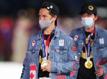 Team Canada at the 2021 Olympics closing ceremony.