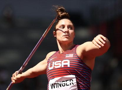 Kara Winger was the 2021 U.S. flag bearer.