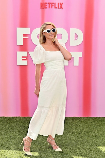 WEST HOLLYWOOD, CALIFORNIA - AUGUST 04: Paris Hilton attends the Netflix Food Event at The London We...