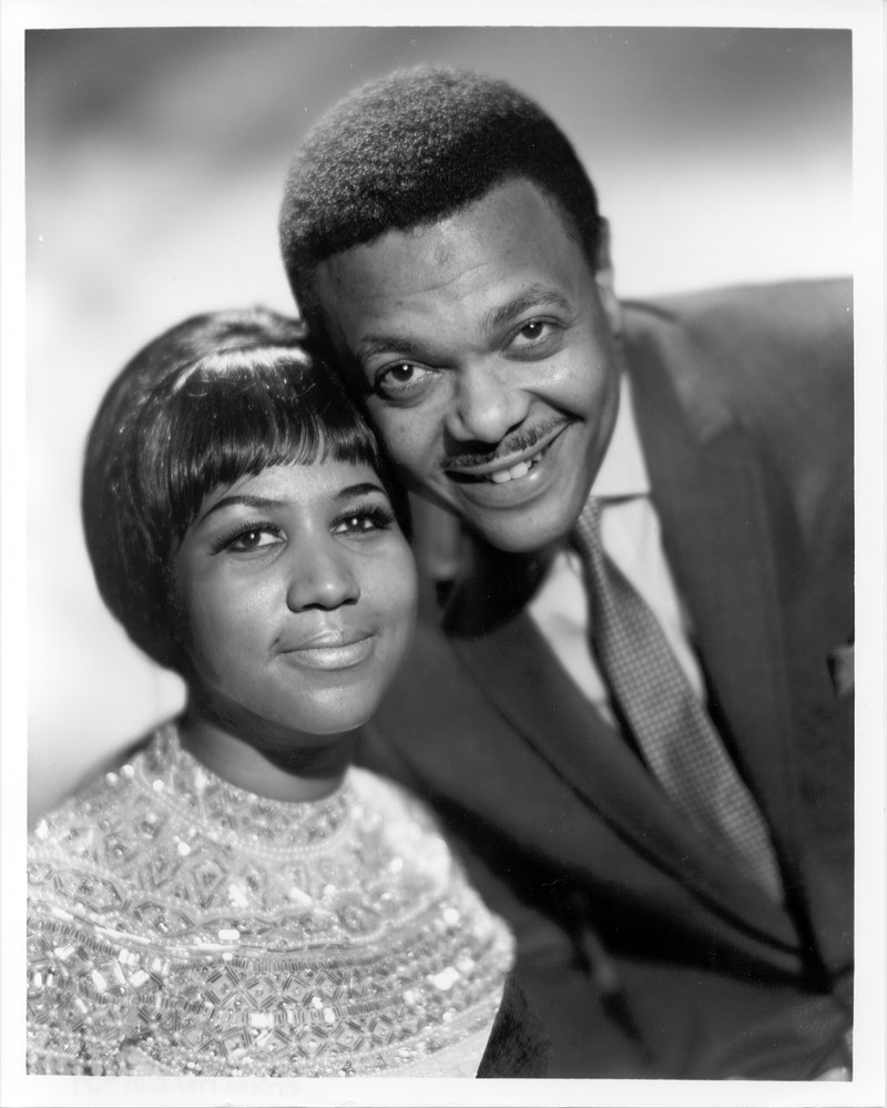 Singer Aretha Franklin poses for a portrait with her husband and manager Ted White circa 1961 in New...